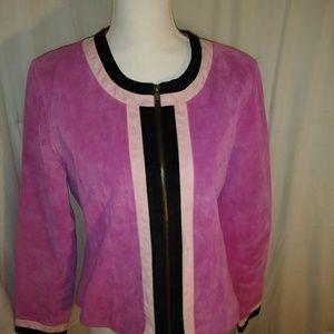 Large Pink Karen Arnald Suede Jacket
